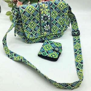Vera Bradley marching bag and wallet set